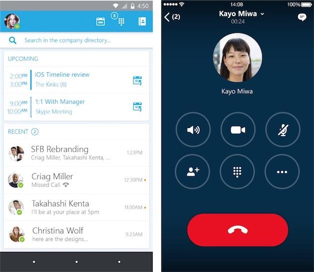 Skype Entreprise Va Remplacer Lync Sur Ios Et Android
