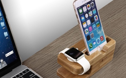iclever ic ws03 un support pour l iphone et l apple watch igeneration. Black Bedroom Furniture Sets. Home Design Ideas