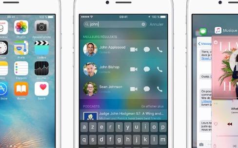 iOS9 est disponible pour tous