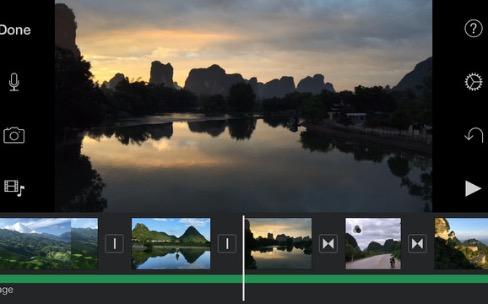 iMovie est optimisé pour les iPhone 6s et les iPad sur iOS9