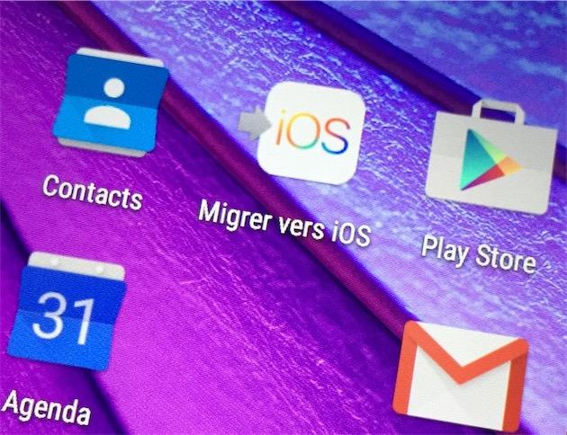 Une migration Android vers iPhone en images