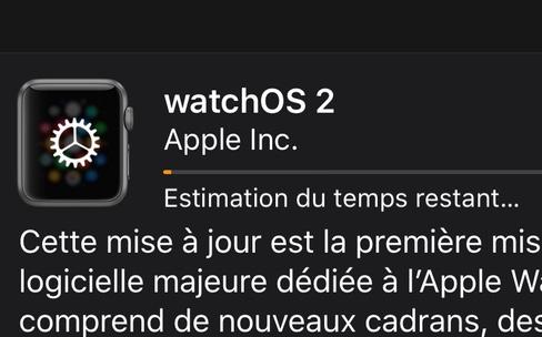 watchOS 2.0.1 est arrivé