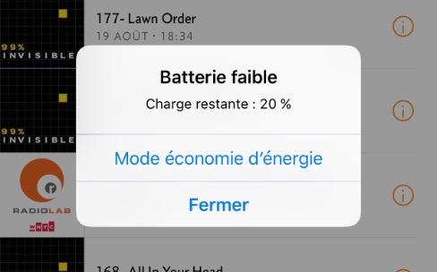 L'économie d'énergie d'iOS 9 permet de tenir plusieurs jours