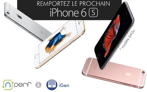 Derniers jours pour gagner un iPhone 6s 64 Go avec nPerf et iGeneration !