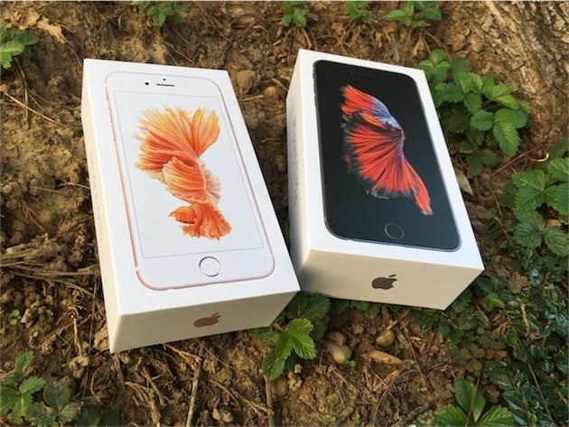 Un iPhone 6s et un iPhone 6s Plus dans la nature