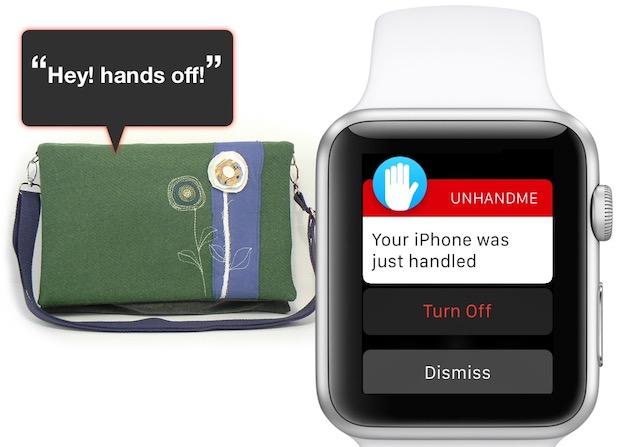 L'iPhone laissé dans un sac peut aussi servir de sécurité pour le sac lui-même.