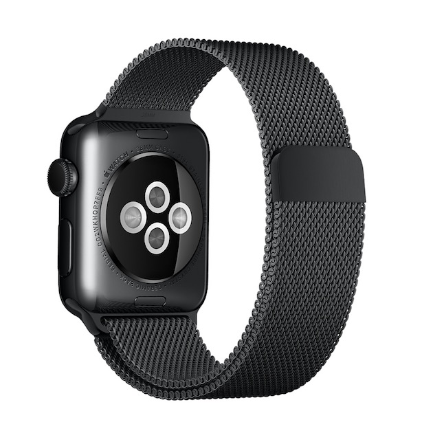 Bracelet Nouveau Milanais Noir Un L'apple WatchIgeneration Pour XZuPOTik