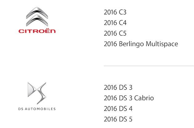 Quelques-uns des modèles qui devraient ajouter CarPlay cette année.