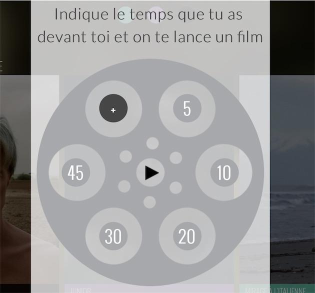 La « Roulette Movie » qui ne demande qu'une chose pour lancer une œuvre : le temps disponible. Une bonne manière de découvrir le catalogue sans avoir à prendre une décision, sachant que l'on a toujours un film jamais vu.