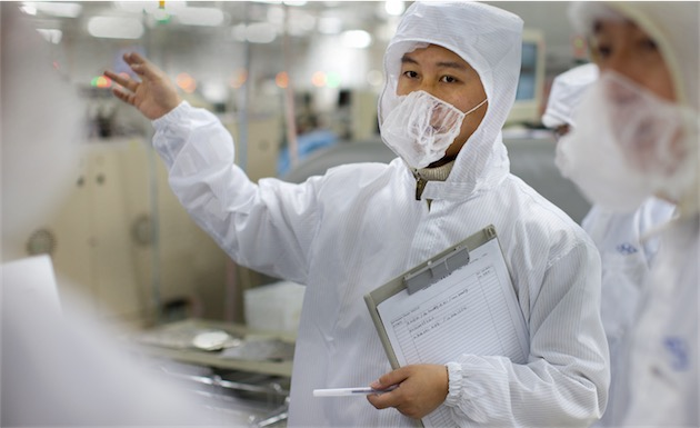 Laudit dune usine dun fournisseur chinois dApple. Image Apple.