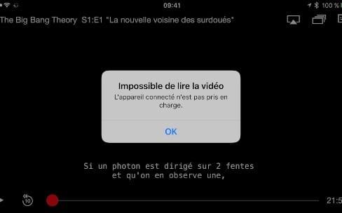 iOS10 masque les vidéos protégées sur les captures d'écran