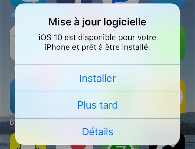 Apple tient à le faire savoir: iOS10 est disponible!