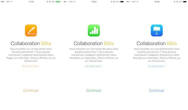 Pages Numbers Et Keynote Une Collaboration En Beta Mais