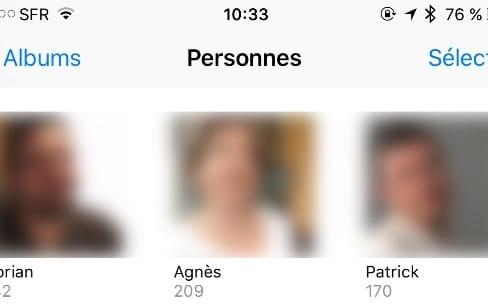 Photos: iOS 10.1 sauvegarde les noms des visages dans iCloud