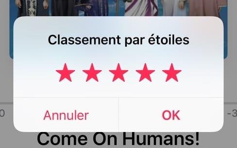 iOS 10.2 : le retour des notes par étoiles dans l'app Musique !