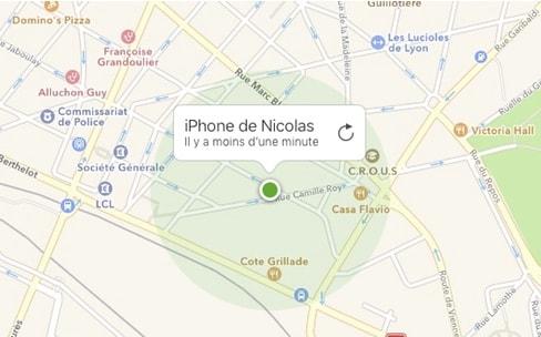 Un iPhone volé pourrait transmettre sa position même éteint