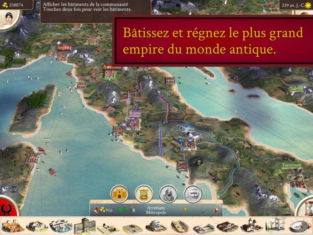 Rome: Total War est sorti sur l'iPad