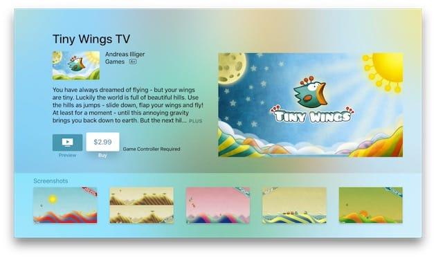a7ed43d6fc1 Tiny Wings plane sur Apple TV et iPhone de 4