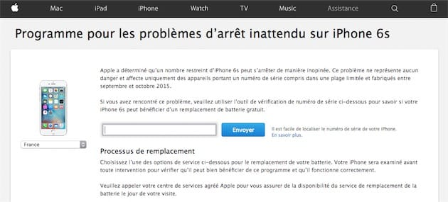 numero apple gratuit