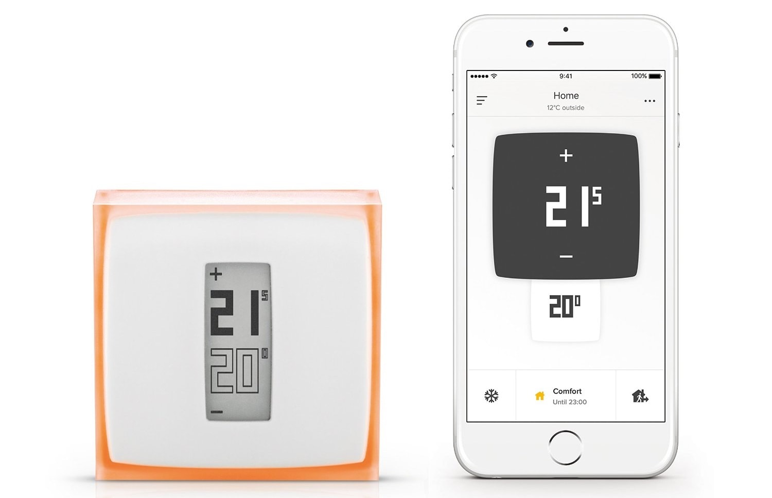 promo le thermostat netatmo 134 et un support de bureau pour iphone 7 igeneration. Black Bedroom Furniture Sets. Home Design Ideas