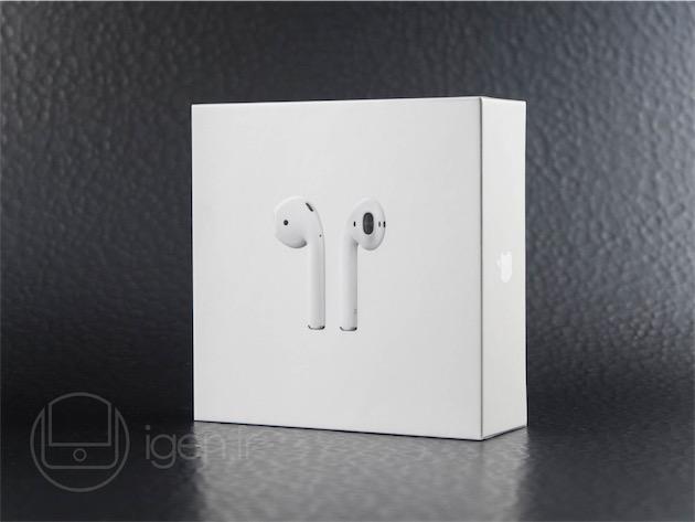 La petite boite dans laquelle sont livrés les AirPods, embossée comme tous les emballages des dernières nouveautés d'Apple.