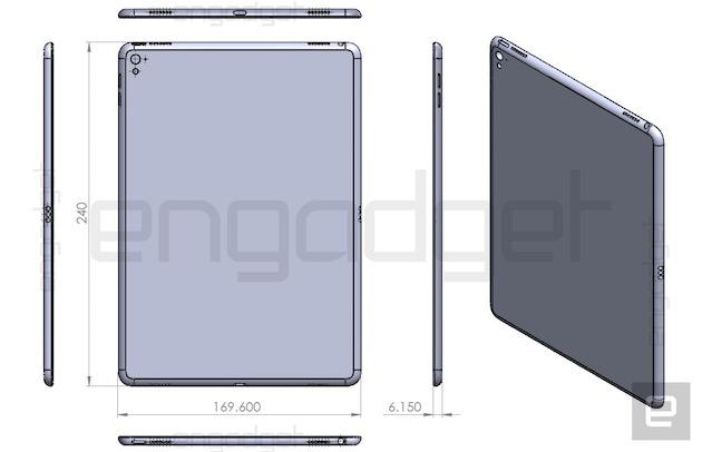 Schéma de ce qui serait l'iPad Air3. Cliquer pour agrandir
