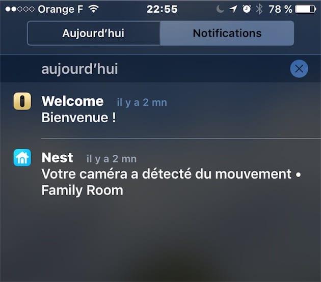 La Nest a «détecté du mouvement», mais la Welcome est capable de vous souhaiter la bienvenue.