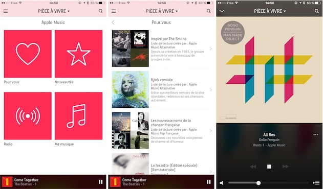 Apple Music depuis l'application Sonos