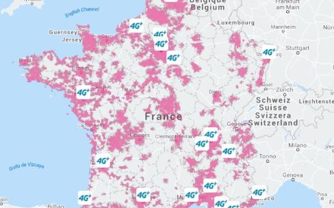 La 4G de Bouygues couvre 75% de la population