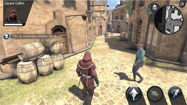 Assassin's Creed Identity sur un iPhone6sPlus — Cliquer pour agrandir