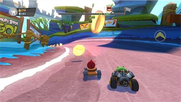 Angry Birds Go! en pleine course sur lApple TV— Cliquer pour agrandir