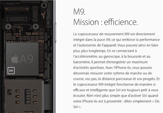 L'iPhone6s exploite le coprocesseur M9 pour activer «Dis Siri» en permanence. L'iPad Pro 9,7pouces aussi… mais pas le modèle 12,9pouces.