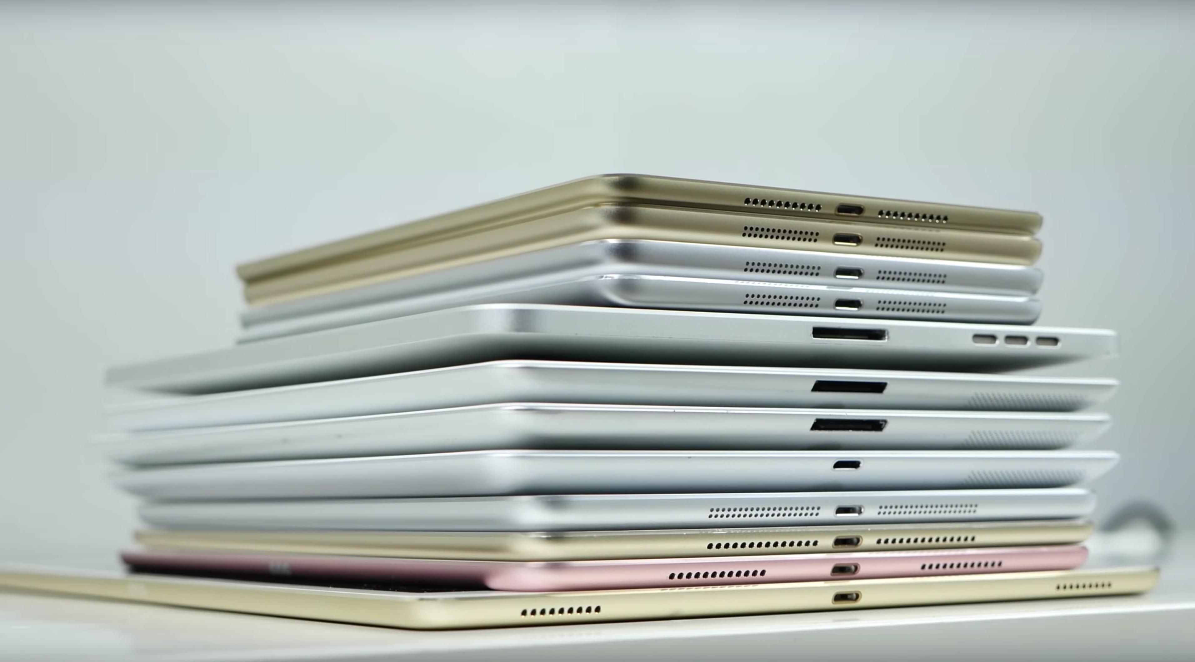 Les 12 iPad d'Apple dans un comparatif géant | iGeneration