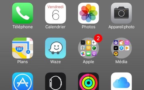 Un bug arrondit les dossiers d'iOS 9.3