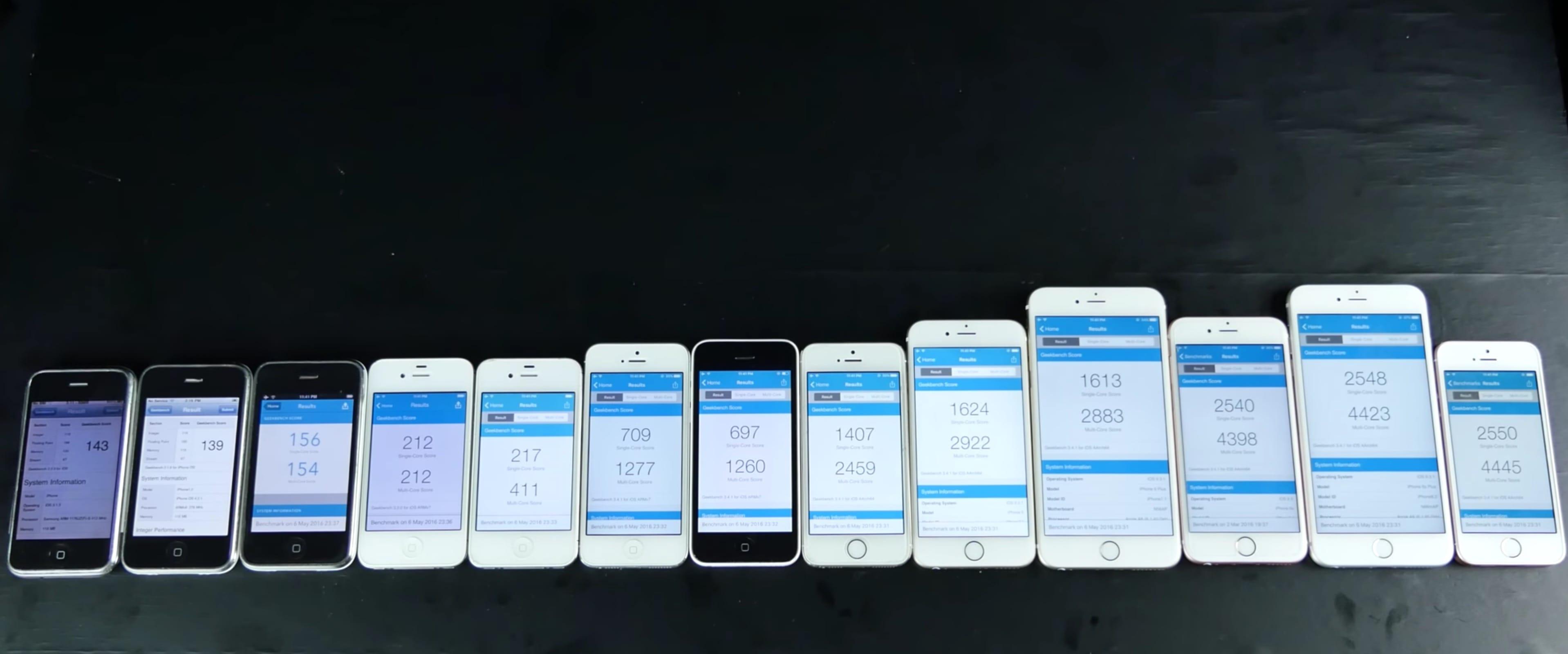 les 13 iphone d 39 apple dans un comparatif g ant igeneration. Black Bedroom Furniture Sets. Home Design Ideas
