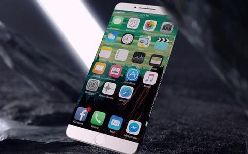 Concept : un écran de notifications sur les bords de l'iPhone