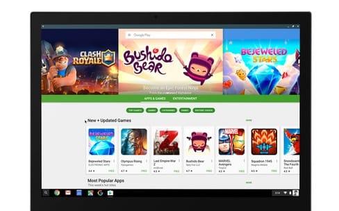 Les applications Android s'installeront sur Chrome OS cet automne