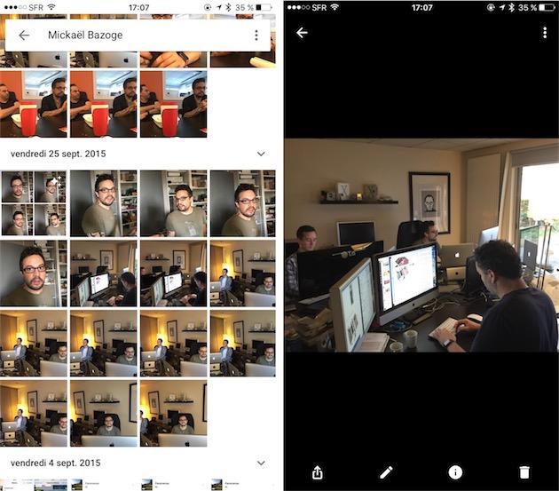 Saurez-vous retrouver Mickaël sur la photo de droite? Aucun problème pour Google Photos !