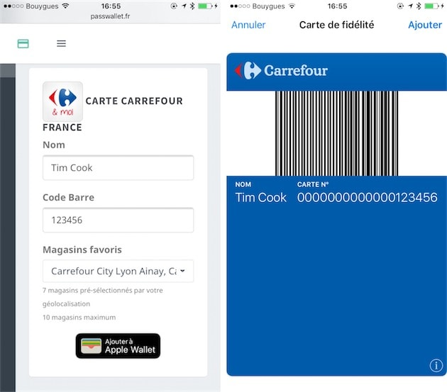 Creation Dune Carte Avec PassWallet Sur IPhone