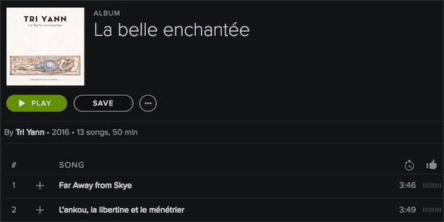 La pochette sur Spotify, par exemple.