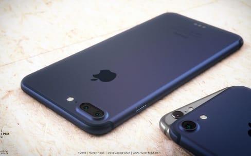 Et voici l'iPhone 7 bleu profond (en rendu 3D)