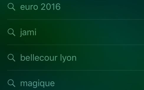 iOS 10 : un historique des requêtes dans Spotlight