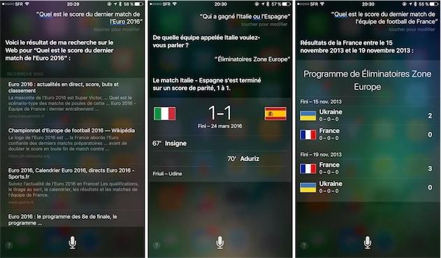 Grâce à Siri, redécouvrez de vieilles infos sportives que vous aviez sûrement oubliées. Pratique ! — Cliquer pour agrandir