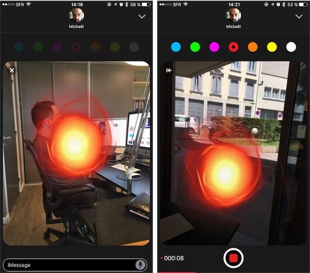 Des boules de feu partout ! Sur une photo à gauche, sur une vidéo à droite.