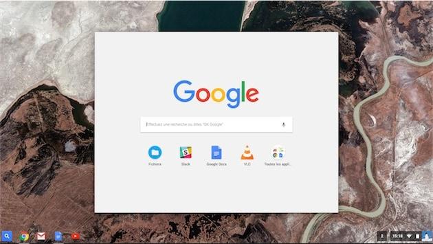 Le panneau de recherche de Chrome OS — Cliquer pour agrandir