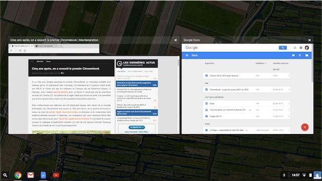 Le pseudo Mission Control de ChromeOS. — Cliquer pour agrandir