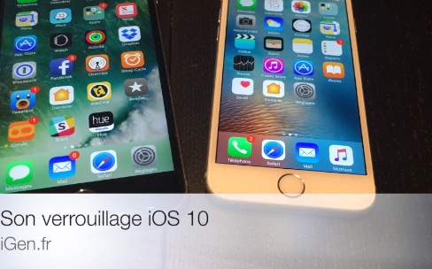iOS 10 bêta 3 change le son de verrouillage