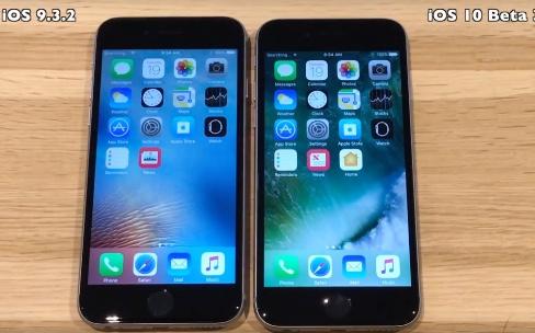 Comparatifs de vitesse entre iOS 9.3.2, 9.3.3 et iOS10