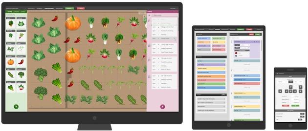 Pour «programmer» son potager, on passe sur cette web app qui ressemble presque à un jeu… Cliquer pour agrandir
