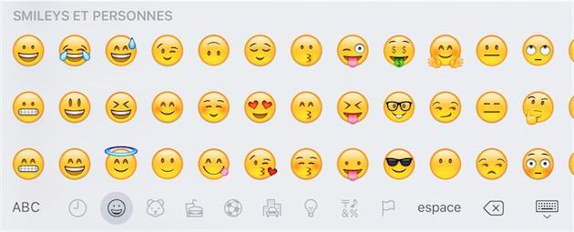 Les anciens emojis.
